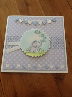 New baby card using lili of the valley stamp and memory box dies. Baby Girl Cards, New Baby Cards, Baby Boy, Baby Scrapbook, Scrapbook Cards, Scrapbooking, Shower Bebe, Baby Memories, Square Card