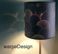 Handmade punctured paper lampshade by warpedesign1 - featured on greenyourdecor