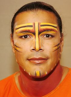 Face paint for Male Lions (vary the colors for each character) - Mufasa, Scar, Adult Simba; less for Young Simba Lion King Play, Lion King Show, Lion King Jr, Musical Rey Leon, Lion King Musical, Lion King Broadway, Lion King Costume, Rafiki Costume, Pumba
