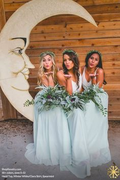 Revelry - Clara Skirt, $125.00 Revelry has affordable, trendy, and designer quality bridesmaid dresses and separates. Everything is available in endless colors and sizes 0-32! The Clara bridesmaid skirt is shown rustic mint. ():
