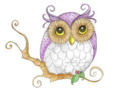 a little purple owl original art card by aphotica on Etsy, $4.00