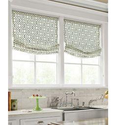 Window treatments, roman shades | relaxed roman shade | window treatments