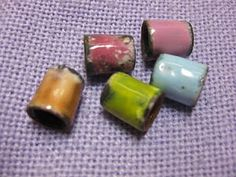 Make enamel beads from copper pipe