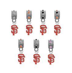 San Francisco Giants MLB Baseball Crystal Rhinestone European Bracelet Charm