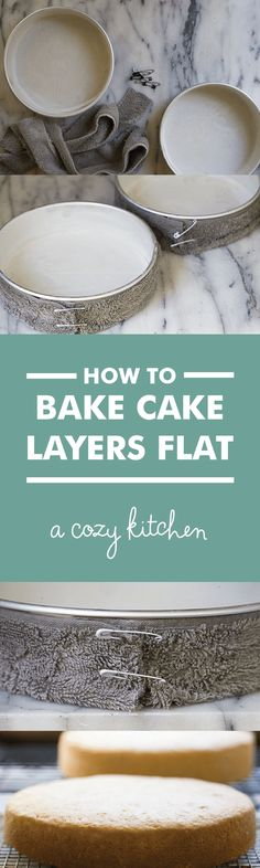 How to bake cake lay