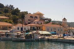 the little harbour of Vathy, Meganisi island