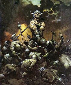 Cover of  Conan the Buccaneer - Conan the Destroyer by Frank Frazetta