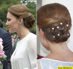 Amazing hair on Kate Middleton -- perfect for a wedding!