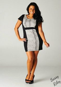 www.SassyRiley.com What can we not say about this dress?!  This dress is HOT! It a great dress to flatter your figure and the black siding gives a slimming illusion.