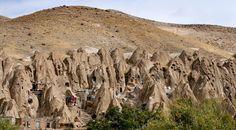 troglodyte village, azerbaijan