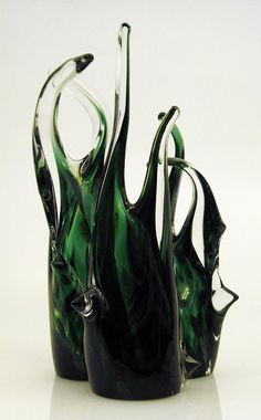 Trees - Glass Sculpture Earth Land Forest Woods Plant Abstract Blown Sturdy Set Three