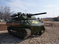 Mini Tankbot, Russia  Uran-9 stands just a few feet taller than the average human being, but there is no need to be any bigger as the machine does not transport soldiers. This vehicle will assists infantry units and counter-terrorism groups by reaching places soldiers are unable to travel. There has been no price mentioned as of yet, but the organization plans to launch Uran-9 into the market sometime this year