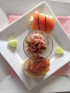 Makkelijk en culinair voorgerecht; 3 verschillende hapjes.