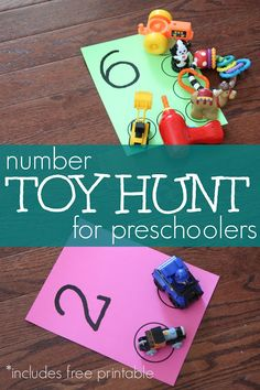 Number Toy Hunt for Preschoolers Toddler Approved!: Number Toy Hunt for Preschoolers Preschool Learning Activities, Fun Learning, Preschool Activities, Number Activities For Preschoolers, Indoor Activities, Number Recognition Activities, Summer Activities, Family Activities, Children Activities
