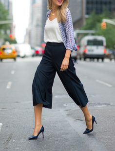 Proof You Shouldnt Be Afraid of Culottes ~ wear it for work outfit