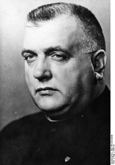the face of evil: Josef Tiso, a Catholic priest, was the pro-Nazi leader of Slovakia during the war years. He collaborated with the Germans in deporting 73,000 Slovak Jews, mostly to Aushswitz where they were all gassed. After the war, Tiso was tried, convicted, and hanged for his war crimes. Now he serves the devil!