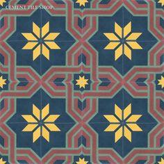 Cement Tile Shop - Handmade Cement Tile   Arabesque