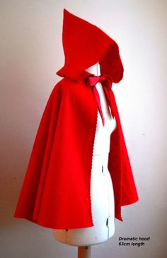 Simply Felt Red Riding Hood Cape for World book day March 7th 2013
