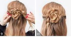 The Half Up Lace Rose Hairstyle