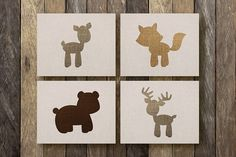 Woodland Animal Art  Instant Download  by TheLionAndTheLark, $14.00