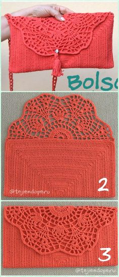 Crochet Pineapple Top Clutch Free Pattern Video - Crochet Clutch Bag