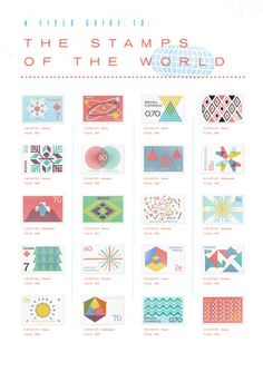 """""""A Field Guide to the Stamps of the World"""" by Gavin Potenza"""