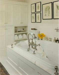 Bathroom built-ins. Perfect and elegant storage.