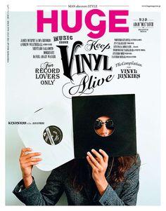"""""""Keep Vinyl Alive"""", couverture du n°93 de HUGE"""
