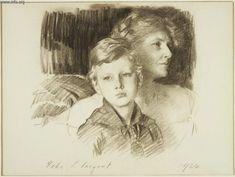 John Singer Sargent - Charlotte Nichols Greene and her Son Stephen, 1924