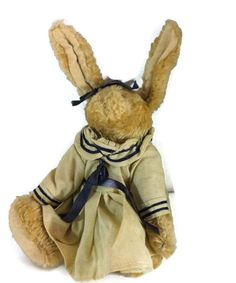 "Boyds Bears Emily Babbit 8"" Retired  Brown Rabbit Hare Tan Sailor Dress Blue  #AllOccasion"