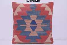 bohemian cushion 18x18 ethnic pillow kilim by DECOLICKILIMPILLOWS