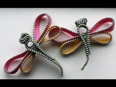 Zipper Trim Dragonfly Tutorial 2 - YouTube