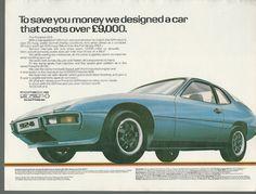 1 of 1: 1980 PORSCHE 924 advertisement, British advert Porsche 924