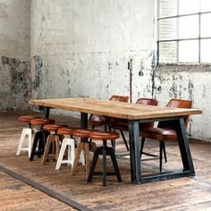 American wood table desk office furniture suite rustic wrought iron table LOFT retro to do the old conference table(China (Mainland))