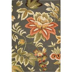 """Nourison Floral Images French Country Runner, 2'3""""x8'"""