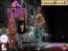 (WEAR ME) Naughty Boy Jogger & Sweater secondlife, sl, avatar, men, secondlife fashion lifestyle