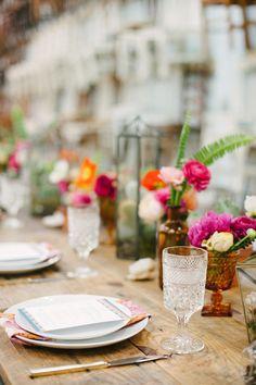 Boho brunch table: http://www.stylemepretty.com/living/2015/05/08/a-boho-bourbon-brunch/ | Photography: Katie Lopez Photography - katielopezphotography.com