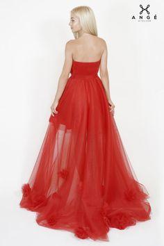 Rochie Rosie Lunga Trena Majorat Printesa AngeAtelier Strapless Dress Formal, Formal Dresses, Corset, Ball Gowns, Model, Fashion, Tulle, Dresses For Formal, Ballroom Gowns