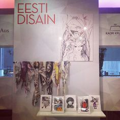 In one of the oldest department stores Tallinn - Tallinna Kaubamaja /Tallinn Department Store estonian  design section !  looks great isn't it  #tallinn #tallinnakaubamaja #kaubamaja #estoniandesign #designer #illustration #scarves #silkscarves #departmentstore #layout #eestidisain #eesti #arts #artworks #illustrations #foulard #silk #katlinkaljuveescarves #kätlinkaljuvee #katlinkaljuveeillustration (at Tallinna Kaubamaja)
