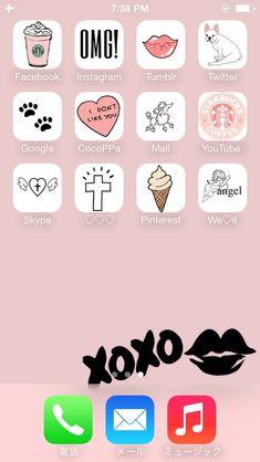 100 Best Kawaii Phone Layout Images In 2020 Cute Themes Phone Kawaii