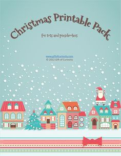 Free Christmas printable pack for tots and preschoolers...