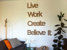 Un modo originale per #arredare il proprio #ufficio o la #casa con queste bellissime #scritte in 3d!