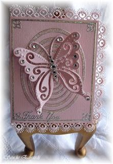 Delightfully Crazy: Marianne Craftable 'Butterfly' Thank You Card - Cardmaking Online