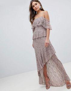 ASOS Multi Layer Lace Ruffle Cami Maxi Dress