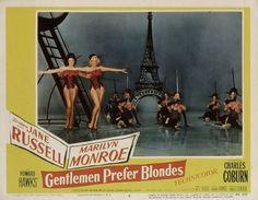 """Vintage Marilyn """"Gentlemen Prefer Blondes"""" lobby card."""