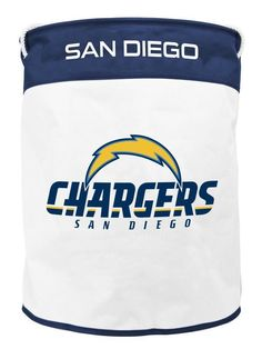 SAN DIEGO CHARGERS CANVAS LAUNDRY BASKET W/ ROPE HANDLES FROM DUCK HOUSE SPORTS #DuckhouseSports #SanDiegoChargers