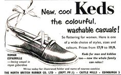 Keds shoes by Picture Post adverts from the 50's, via Flickr