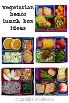Five vegetarian lunch box ideas for your Bento box. A food post by Seattle area family blog, Long Wait For Isabella.