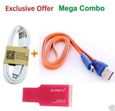 Mega Combo Code: 5886050 from shopclues for Rs. 50  It is a triple combo of smiley data cable  + USB data cable + Quantum .card reader 2.0