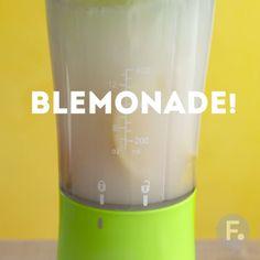 Blemonade - peel the lemon then blitz in the blender - for stronger taste and higher fiber - add some zest as desired.